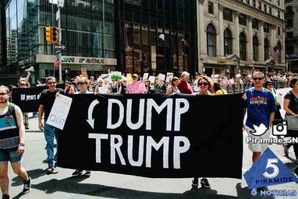 Piramide5N- EEUU Trump Protes